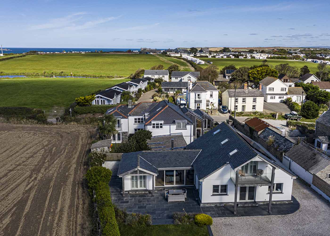 Holiday home aerial photography