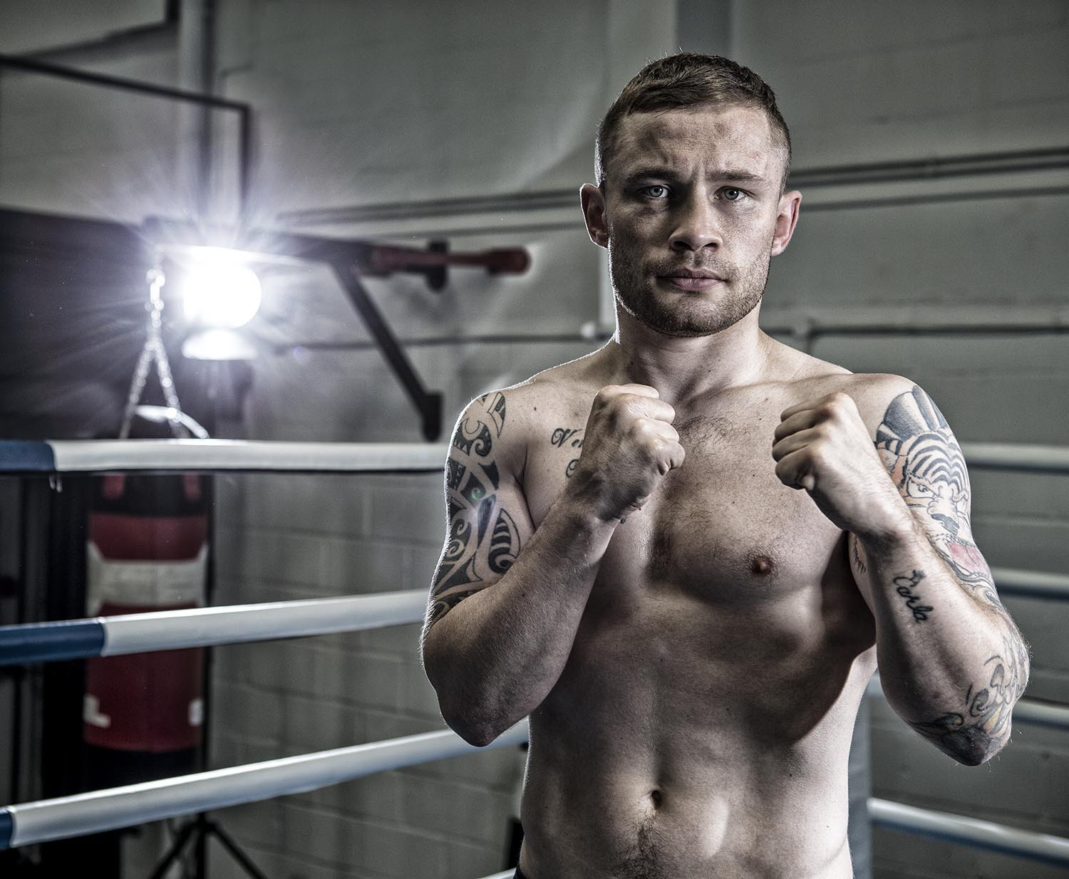 Boxing Photography with Carl Frampton for Channel 5